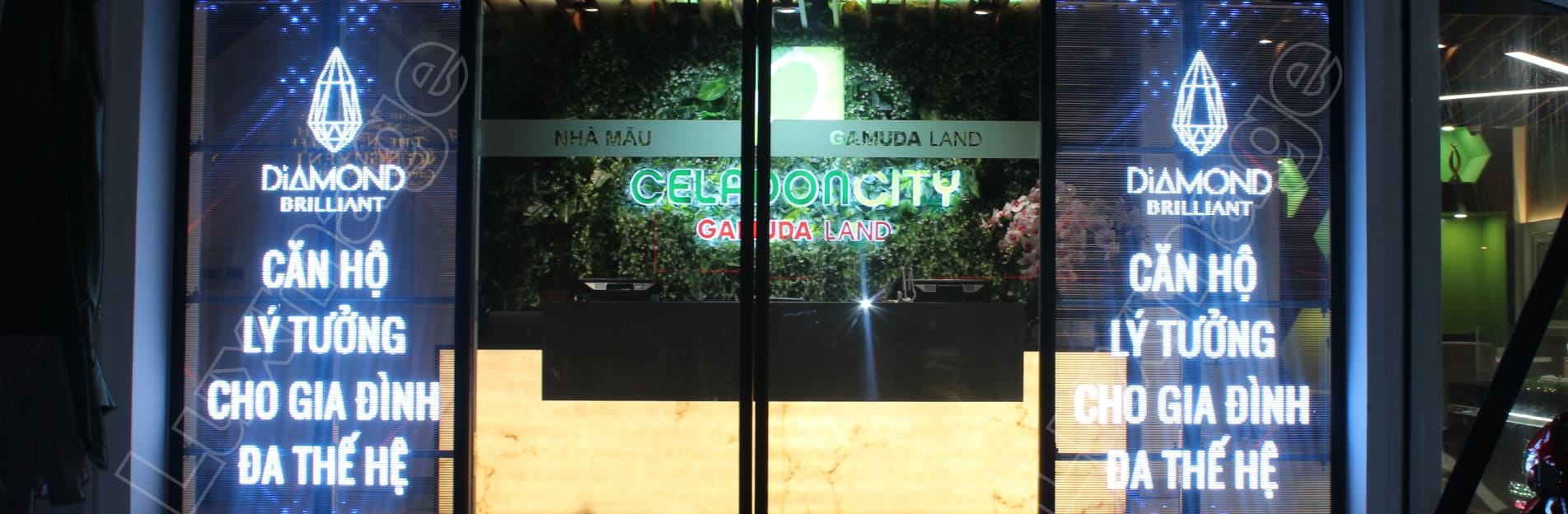 Transparent led screen at Gamuda Sales Gallery