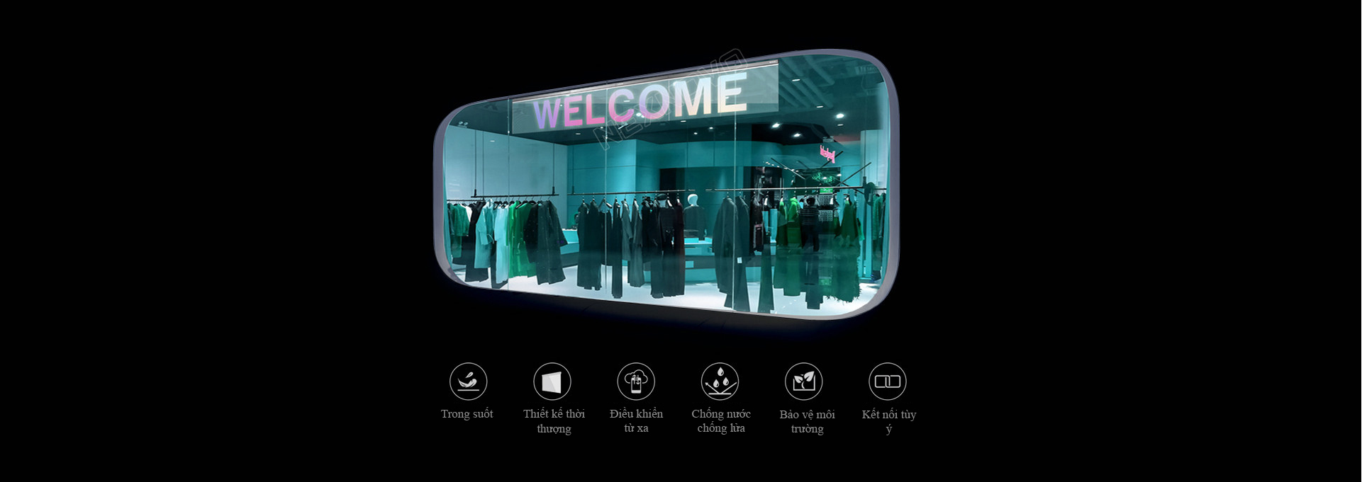 Nexesign smart glass led sign