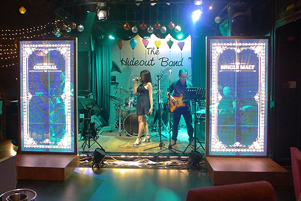 Led screens at the event The Hideout Band