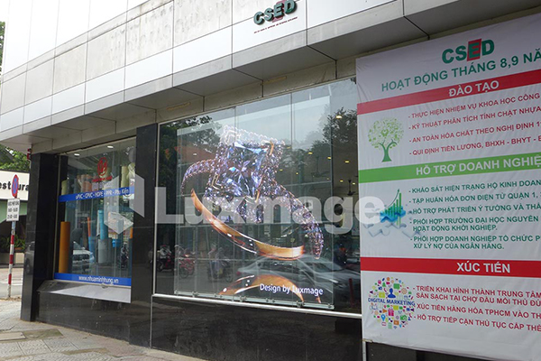 Transparent LED at CSED HCMC Business Development and Support Center